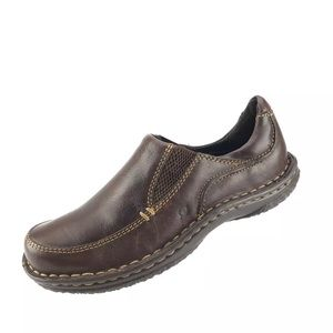 Born brown leather slip on shoes Sz 6.5 M